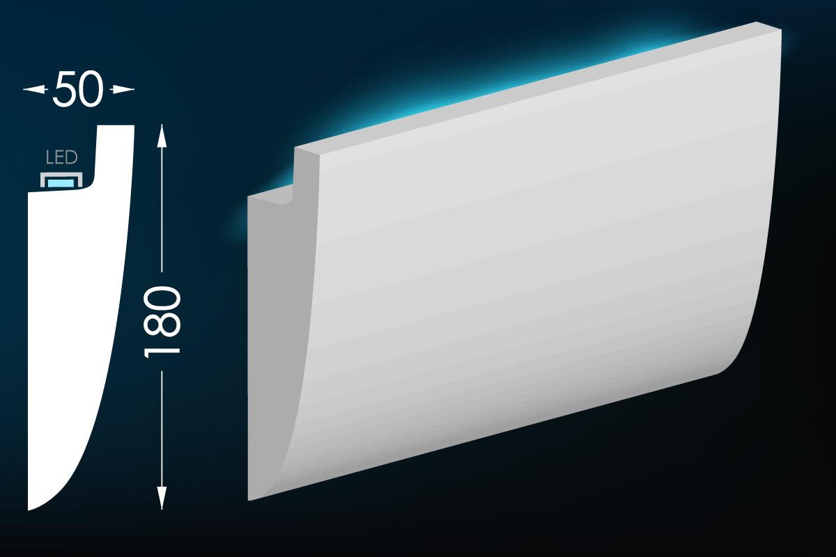 Карниз для скрытого освещения Тс-30