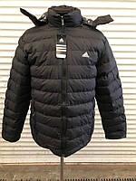 Мужская деми куртка adidas черного цвета оптом