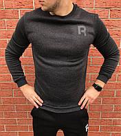 Кофта свитшот для подростка теплый Reebok Gray
