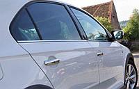 Хром накладки на ручки Skoda Rapid / Volkswagen Jetta 2011-2015 хромированный пластик