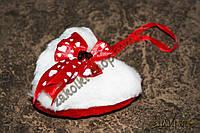 Товары ко дню Святого Валентина, сувенир сердце мягкое на петельке, длина: 11 см, 6 штук в упаковке