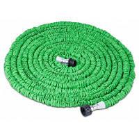 Растягивающийся садовый шланг на 30м с пистолетом-распылителем с 7 режимами Зелёный