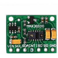 MAX30100 модуль для измерения частоты сердечных сокращений Зелёный