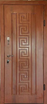Входная дверь модель П3-302 кедр матовый, фото 2