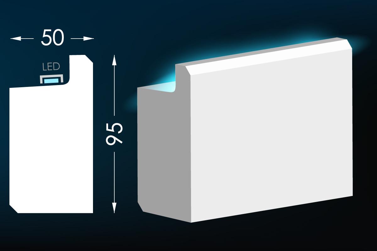 Карниз для скрытого освещения Тс-32