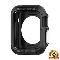 Чехол Spigen для Apple Watch Rugged Armor (42mm) Black, фото 1