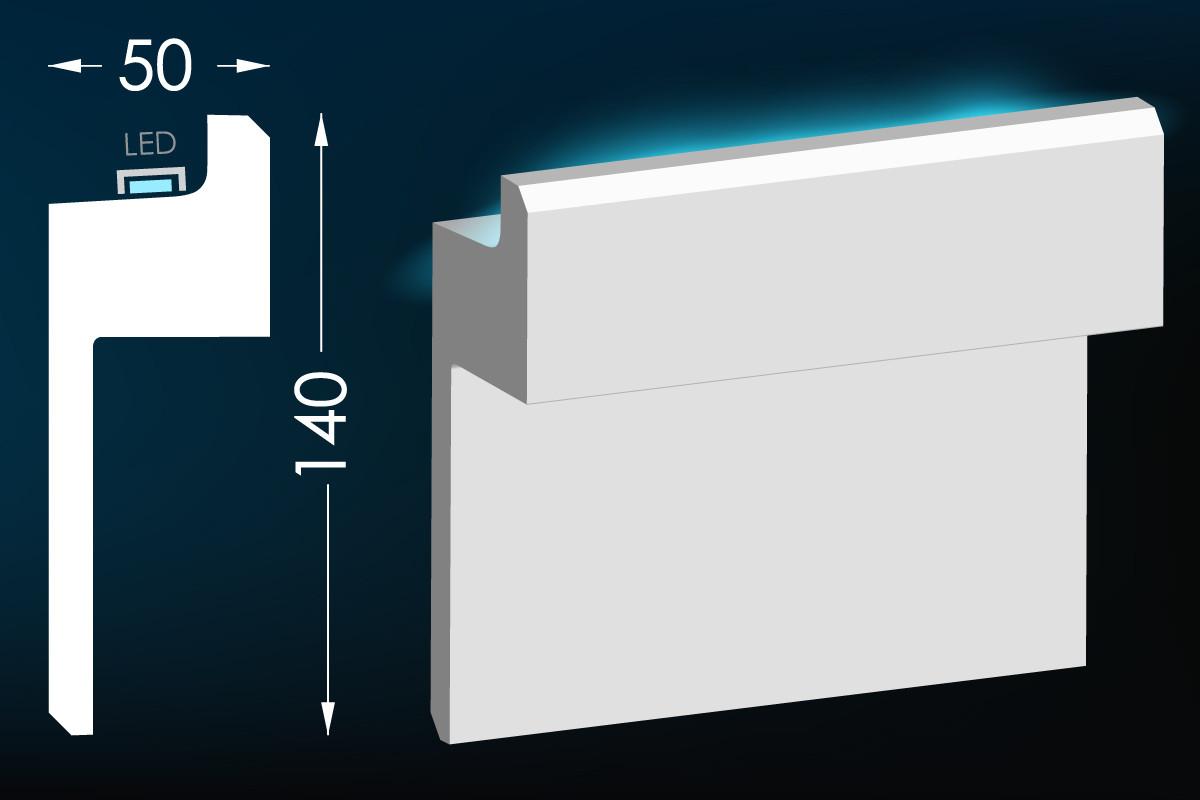 Карниз для прихованого освітлення Мс-33