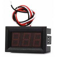 V27D D0-100V R 0.56 дюйма Красный LED DC Модульный вольтметр Чёрный