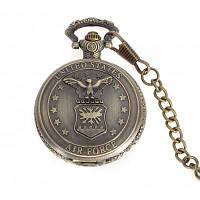 Карманные кварцевые часы на цепочке с символом ВВС США 24357