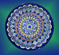 Блюдо. Узбекская керамика. d~28 см