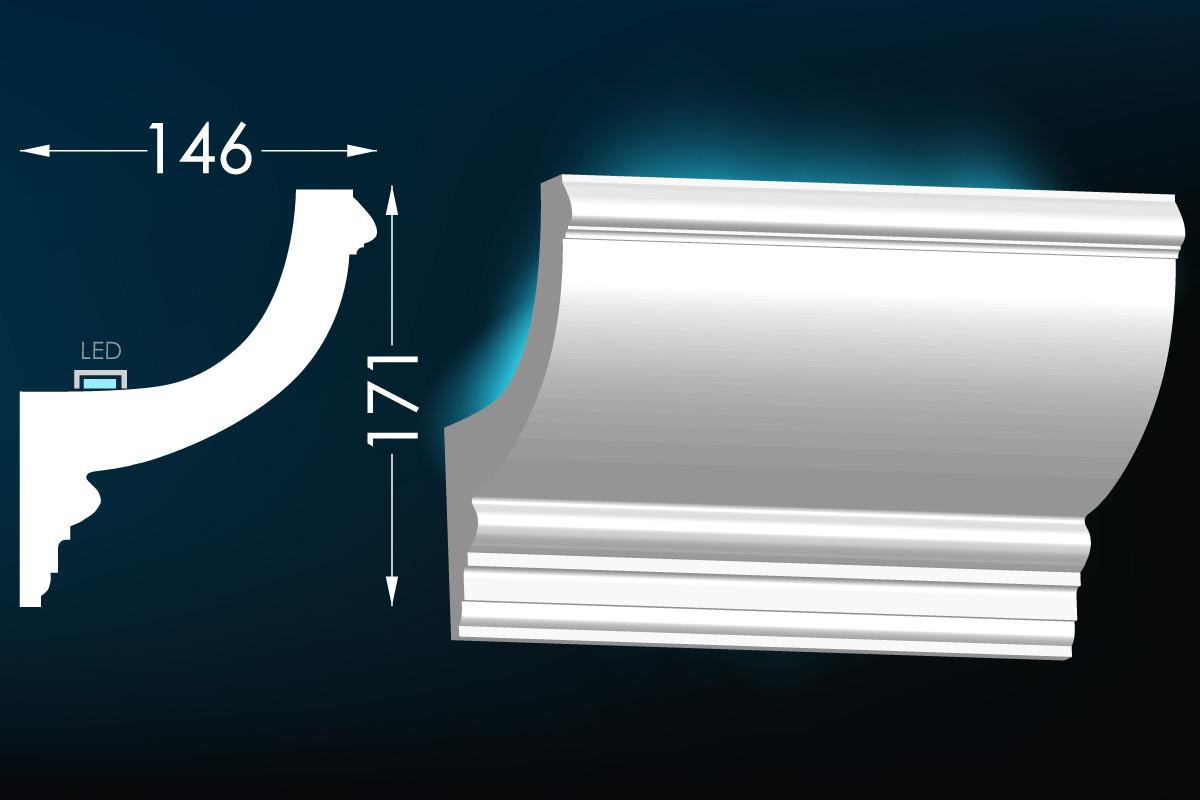 Карниз для прихованого освітлення Мс-34