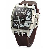 3286 oulm мужские спортивные Кварцевые часы с резинкой для мужчин Коричневый