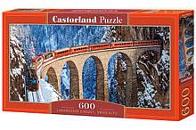 Пазлы castorland 600 элементов (панорамные)