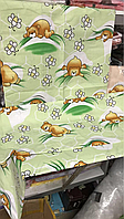 Детский комплект постельного белья в кроватку Мишки в сотах (салатовые)