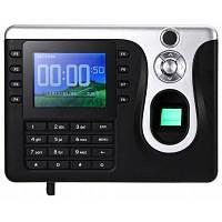 Терминал учета рабочего времени с датчиком отпечатка пальца и двумя идентификационными паролями с поддержкой USB Американская вилка