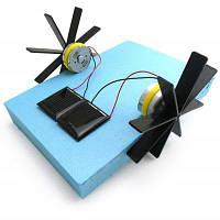 Развивающая DIY игрушка-Лодка на солнечной батарее Синий