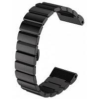 Ремешок с застежкой-бабочкой для часов Garmin Fenix 3 Чёрный