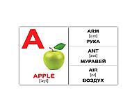 "Карточки мини английские ""Alphabet"" 26 карт, ТМ Вундеркинд с пеленок 094071"