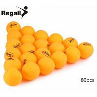 60шт REGAIL настольный теннис пинг понг мяч Жёлтый