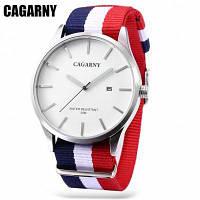 6865 CAGARNY Кварцевые часы для мужчин женщин Толстая Полоса