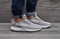 Кроссовки мужские для спортзала и работы, Adidas Alphabounce (серые), дышащие, ТОП-реплика