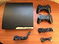 Ігрова приставка Sony PS 3 Slim CECH-2508D 320 GB(data code 0D) прошита + 20 ігор + два геймпади, фото 1
