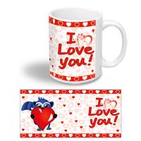 """Керамічна чашка """"Єнотік з серцем"""""""
