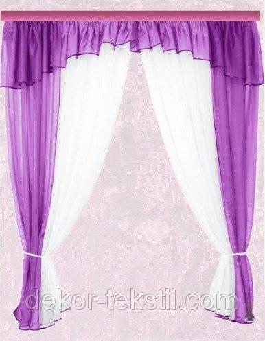 Комплект штор Тина, Фиолетовая кухонные