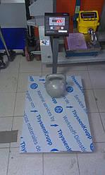 Товарные весы с аккумулятором для склада ВН-150 кг (600*800 мм)