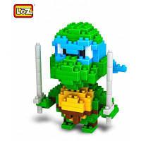 LOZ 210 шт M-9151 Черепашка-Ниндзя Леонардо кубики Детская творческая игрушка Подарок для Мальчика / Девочки для развития воображения Зелёный