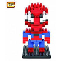 LOZ 130шт M-9154 Человек-паук пластмассовые кубики Детская творческая игрушка Подарок для Мальчика / Девочки для развития воображения Красный