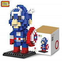 LOZ 190 шт М-9159 Капитан Америка Конструктор Игрушка для мальчика и девочки для развития воображения Цветной