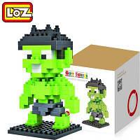 LOZ 130 шт M-9155 Халк пластмассовые кубики Детская творческая игрушка Подарок для Мальчика / Девочки для развития воображения Светло-зеленый