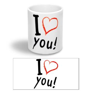 """Керамічна чашка """"Люблю тебе"""""""