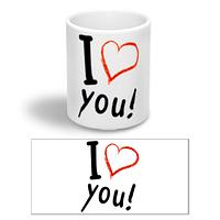 """Керамическая чашка """"Люблю тебя"""""""