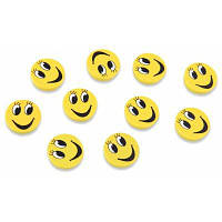 FUNI CT-6659 Набор офисных магнитных стикеров с рисунками смайликов 10 шт. Жёлтый