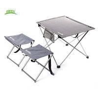 БРС-Т03 3шт / набор портативный Открытый складной стол стул Серый