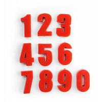 FUNI CT-991 Магнитные стикеры в виде цифр для обучения 10 шт. Красный