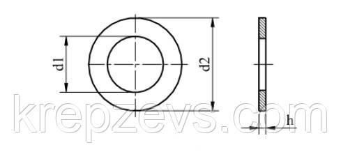Схема шайбы DIN 125