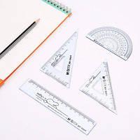 MG Chenguang MF9601 геометрия линейка для студентов 4PCS Цветной