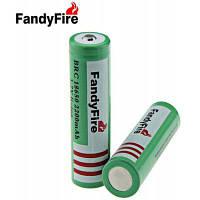 2шт FandyFire 3.7 в 18650 2200mah литий-ионный аккумулятор Зелёный