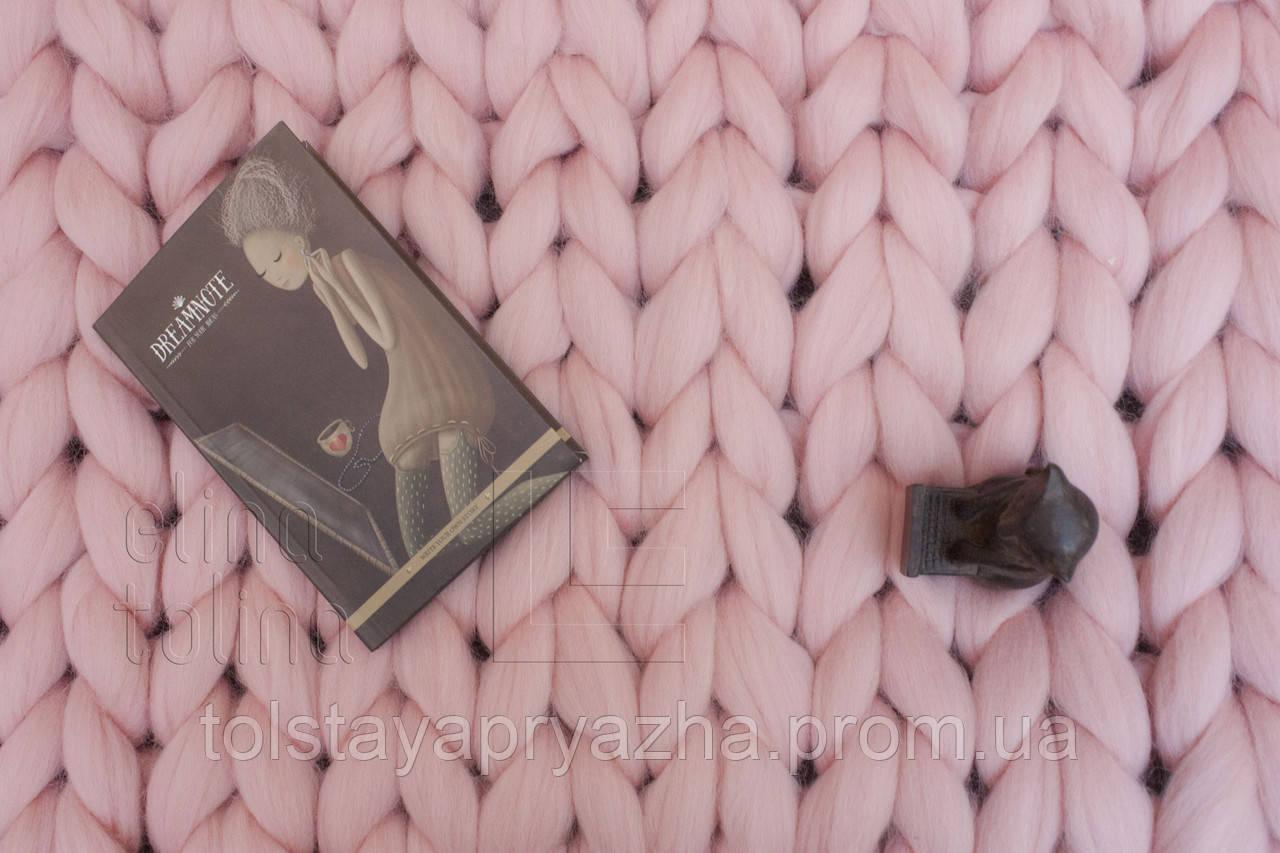 Плед з вовни (колір світло-рожевий) 0,6х1,2 м
