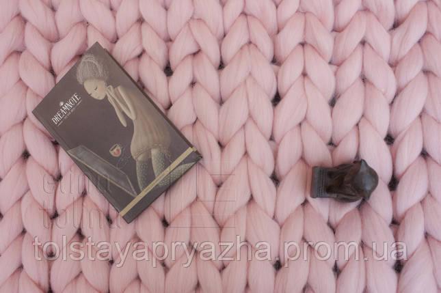 Плед з вовни (колір світло-рожевий) 0,6х1,2 м, фото 2