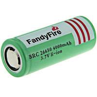 2шт FandyFire 3.7 в 4000mah 26650 аккумуляторная защищены литий-ионный аккумулятор Зелёный
