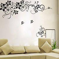 Цветочный стикер для украшения стены 50 x 70cm