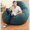 Надувное флокированное кресло крісло Intex 68583, зеленое, фото 3