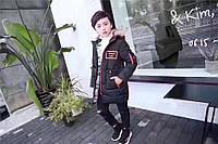 Детский подростковый зимний Натуральный пуховик парка Унисекс. Зимняя теплая куртка.Размеры 110-150.