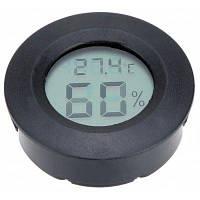 ЖК дисплей 2 в 1 термометр гигрометр Чёрный