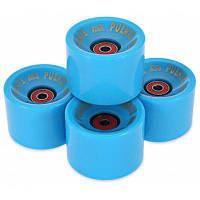4шт 70 х 51 мм скейтборд колеса с подшипниками Синий