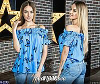 """Женская блузка """"Крестьянка"""" с принтом, фото 1"""